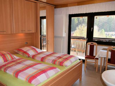 Photo for Double room with balcony (shared shower / WC) - Gästehaus Grau