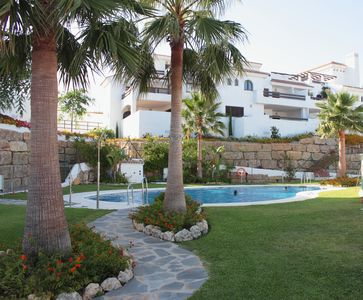 Photo for Luxury family-friendly equipped apartment; 130m2; golf & beach lovers;British TV