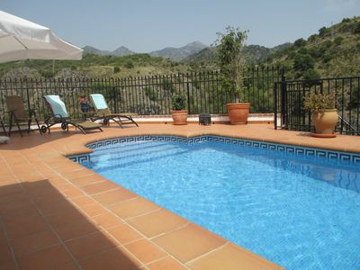 Photo for Townhouse with private pool, stunning mountain and sea views