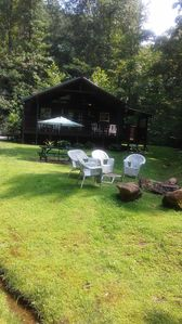 Photo for Sweet Valley Cabin on 6.5 acres and stocked fishing pond for your enjoyment