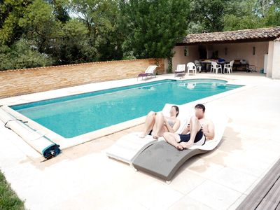 Photo for Beautiful Villa 200 m2, full foot with swimming pool, not overlooked near Montpellier
