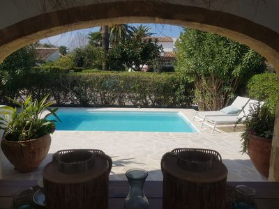 Photo for New 2020! Small house 500 meters from the beach, private pool