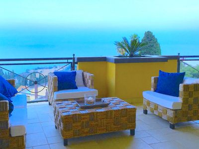 Photo for PANORAMIC RESIDENCE with Sea View Pool  + Terrace