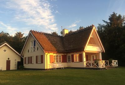 Main house at sunset
