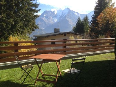 Photo for Rent St Gervais The Bettex apt 4 / 6p Ground Garden View Mt Blanc in RdJ