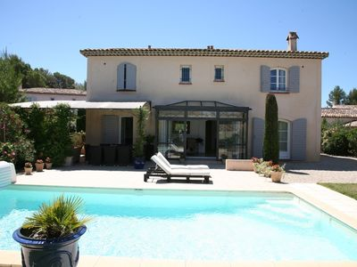 Photo for GOLF ROYAL BRIDGE MAGNIFICENT VILLA CLIMATISEE 4 BEDROOMS HEATED POOL