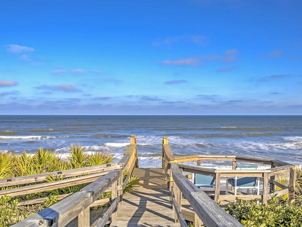 Ponte Vedra Home W Deck Ocean Views Steps To Beach