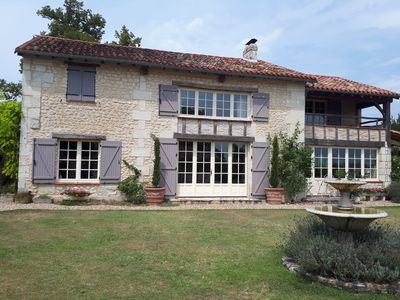 Photo for Country house with a pool near Aubeterre-sur-Dronne