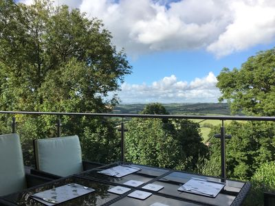 Photo for Modern North Devon Holiday Home with a View over the Taw valley & a Shared Pool
