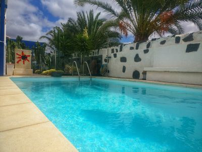 Photo for Lovingly decorated house, near promenade with south terrace and private pool