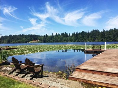 Photo for Lakefront Property! Private Dock! Near Mt. Rainier and NW Trek Wildlife Park