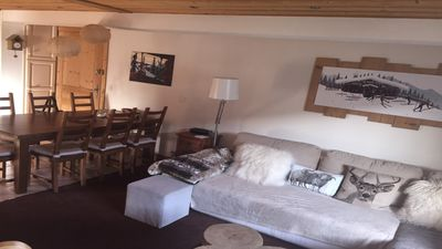 Photo for 4 cozy rooms, ski in ski out, Les Gets, district of Perrières