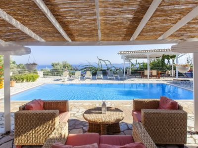 Photo for Modern Villa with Panoramic Sea Views and private pool, in Sivota Lefkada