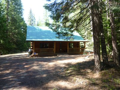 Photo for Lovely Log Cabin with a Hot Tub.  Peaceful & Private.  4.5 miles from Downtown