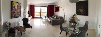Photo for LUXURIOUS APARTMENT IN BENAHAVIS IN STANDING RESIDENCE 10 MIN TO PUERTO BANUS