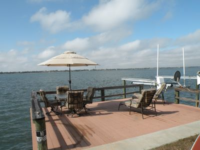 The deck where you will see the porpoise and manatees!