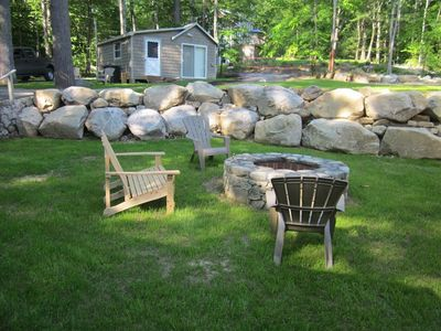 Photo for Three cabins w/ lake views, firepit - walk to Sebago Lake Basin beach & moorings