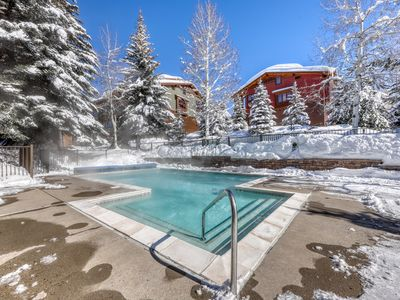 Photo for Steamboat Springs Village condo w/ shared pool & hot tub - walk to slopes!