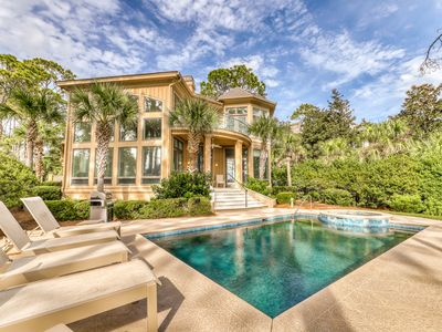 Photo for Luxurious home w/ direct beach access, private pool, & oceanfront master suite!