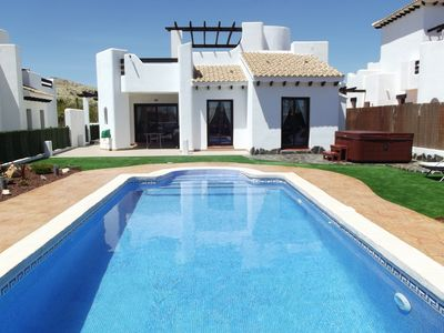Photo for 3 Bed Villa Stunning Private Pool, Hot Tub, BBQ WIFI Heated Pool Option