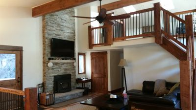 Photo for Luxurious Mountain Chalet with a Hot Tub, Pool Table and 1.5 miles from Town