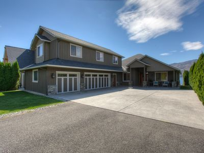 Photo for Lake Chelan Vista Waterfront Home with Pool!  Large outdoor area, sleeps up to 12!