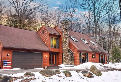 Welcome! Our 5-bedroom home sits at the edge of White Mountain National Forest