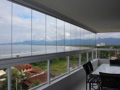 Photo for Beautiful apartment in front of the beach in Bertioga