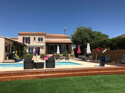 Photo for Villa With Large Pool And Stunning Views In Picturesque Margon Village