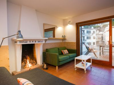 Photo for Apartment Tamariu-Costa Brava beach level sea view fireplace 2 rooms.