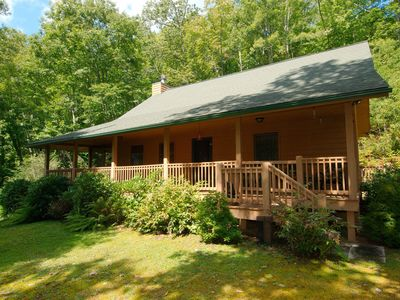 Photo for Secluded 2 BR 2 BA Cabin,Glamorous Views,Hot Tub, Firepit, Lots of Deck Space