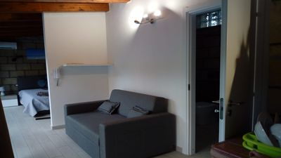 Photo for Loft in mondello beach mt. 200 from sea, full furnished with exterior garden