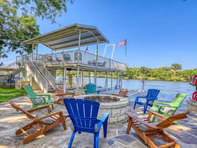 Photo for NEW LISTING! Luxury lakefront home w/private dock, firepit, 2 kayaks & game room