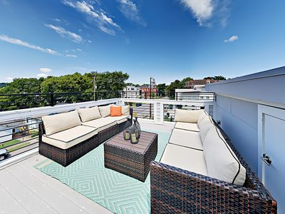 Rooftop Deck - Welcome to Nashville! Your chic townhouse is professionally managed by TurnKey Vacation Rentals.