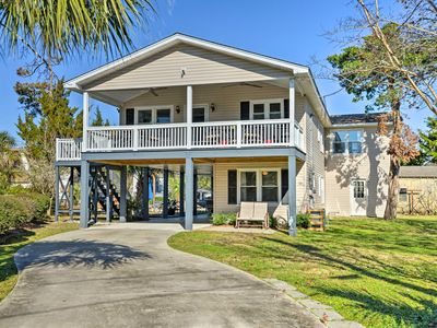 Photo for Canalfront Surfside Beach Home - Walk to Beach!