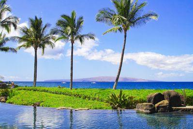 Fabulous Natural Ocean-side Adult Pool & Spa area facing the Island of Kahoolawe