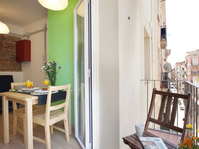 Photo for COMFORTABLE APARTMENT WITH ITS BALCONY NEAR THE BEACH FOR 2