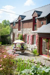Photo for Spacious detached rural modern house in Brittany with sunny south & west gardens