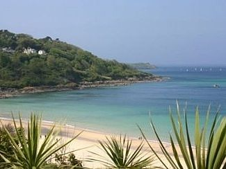 Beautiful Carbis Bay beach looking towards St Ives.