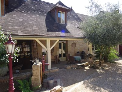 Photo for Family house on old farm, max 5 p, Dordogne France, swimming pool