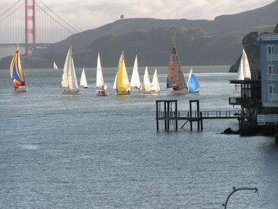 Watching Regattas -View from Living Room
