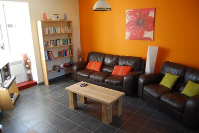 Living Room with Sky Freeview TV, DVD, Free WIFI