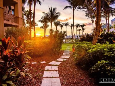 Ground Floor property steps away from 7 Mile Beach. Located at the Ritz Carlton Grand Cayman