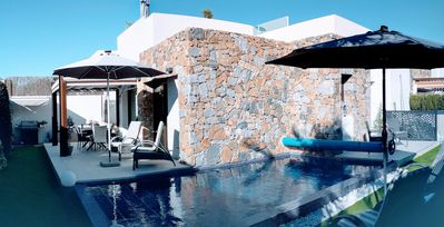 Photo for Modern 5* Luxury Villa with Heated Pool & Free WiFi - Close to the Beach & Golf