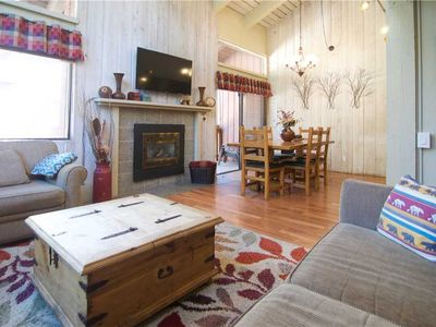 Photo for Mammoth Ski and Racquet Club #9, 2 Bedroom + Loft, 2 1/2 Bathrooms, Walking distance to ski lift.