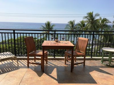 Photo for KONA ALII  OCEANFRONT CONDO, 1 BDRM 2 BATH, AMAZING VIEW IN THE HEART OF KONA