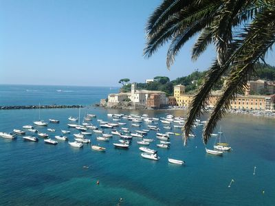 Photo for Sestri Levante characteristic old fishing lodge 180 meters from the sea