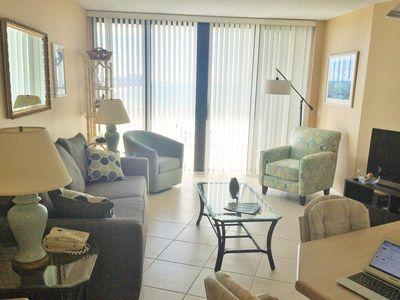 Photo for Best Value in 2 Bedroom Beachfront Highrise Condo with Views!
