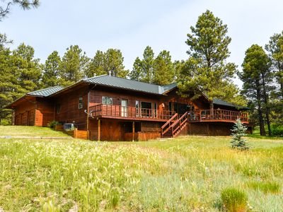 Photo for NEW LISTING! Spacious, high-end cabin with gourmet kitchen + wet bar,