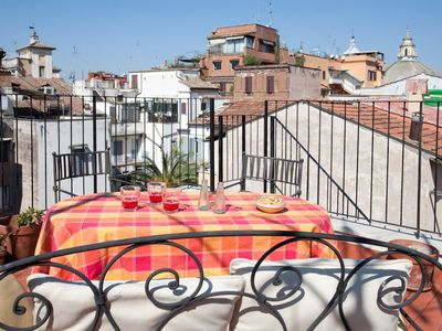 Photo for Laurina F2 apartment with a panoramic terrace in Rome's historic center